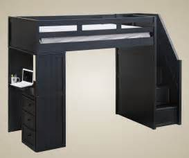 furniture stair loft bed in cherry with desk