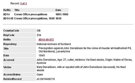 Criminal Record Database Uk High Court Criminal Trials National Records Of Scotland