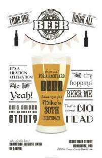 beer party invitations little laws prints