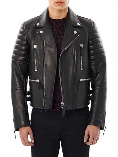 Burberry Style Leather burberry prorsum leather biker jacket in black for lyst