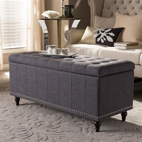 Gray Bedroom Storage Bench Storage Bench In Gray Bbt3137 Otto Grey