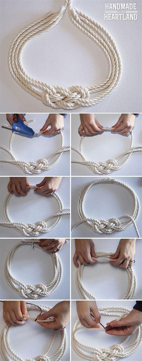 nautical diy crafts diy nautical knot rope necklace nautical