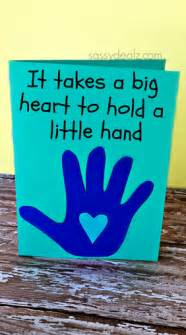 meaningful kid s handprint s day card crafty morning