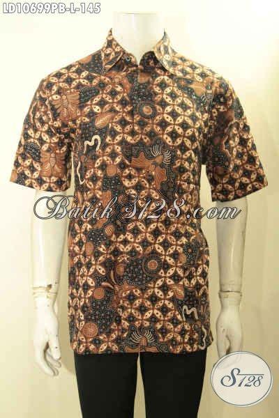 Kemeja Printing Motif Pohon Pria Lengan Pendek Murah model baju kemeja batik kerja nan elegan motif klasik