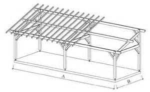 Attached 2 Car Garage Plans Auvent Terrasse Appenti Bois Carport Tradi