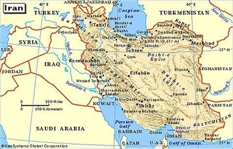 interests section of the islamic republic of iran plateau of iran map location