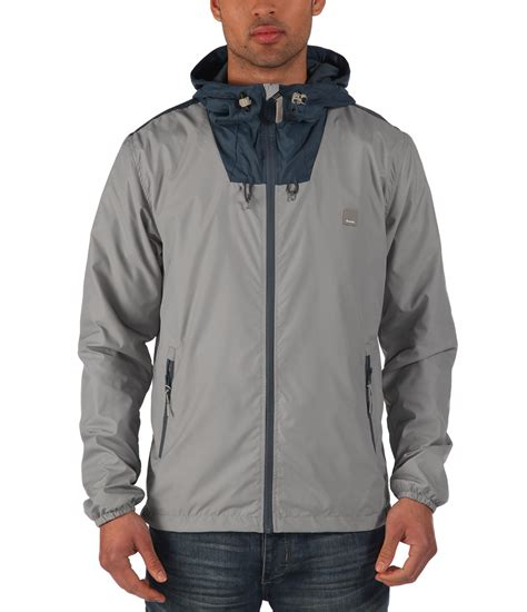 bench for men bench full zip windbreaker in gray for men lyst