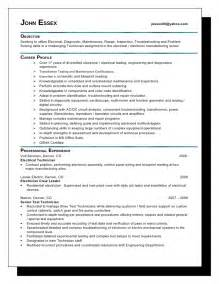 Low Voltage Electrician Sle Resume essex resume