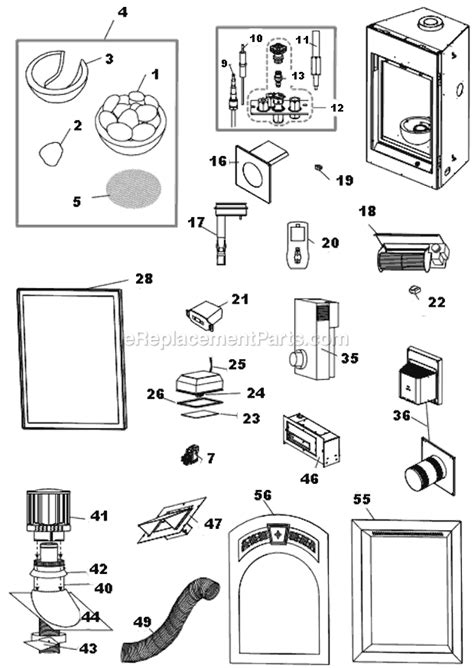 napoleon gd82pt t parts list and diagram
