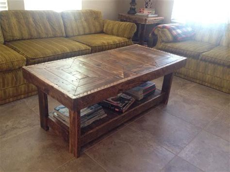 Handmade Pallet Furniture - diy pallet handmade coffee table pallet furniture plans