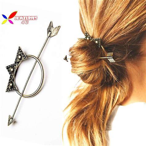 hair stiking 2015 fashion designer vintage antique golden arrow