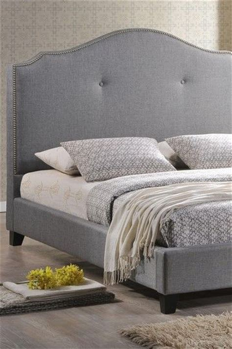 Grey Linen Upholstered Headboard by Scalloped Linen Modern Bed With Upholstered Headboard In Grey Home Is Where Is