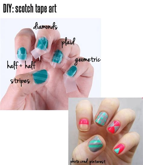 easy nail art using tape easy nail art designs using scotch tape 2017 2018 best