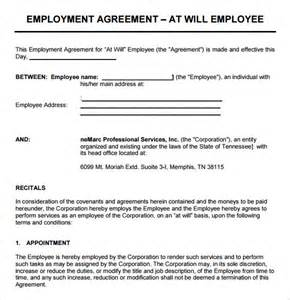 employment agreement templates sle employment agreement 7 documents in pdf word