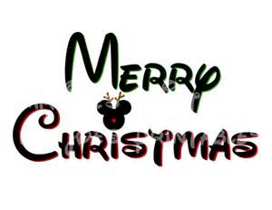 Printable Iron On Paper Disney Mickey Merry Christmas Mickey Mouse Diy By
