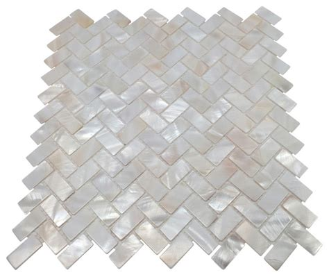 Decorating Ideas For Kitchen Counters mother of pearl herringbone mosaic tile white 11 quot x11