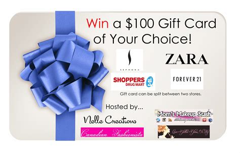 Shoppers Food Gift Cards - win 100 gift card to sephora forever 21 zara or shoppers drug mart