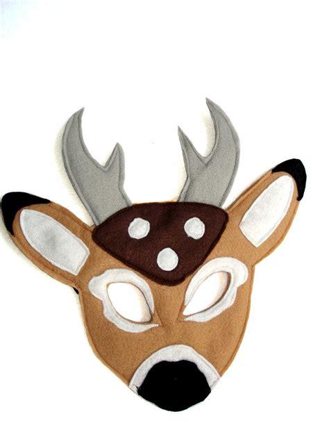 printable mask of deer children s woodland animal deer felt mask magical attic