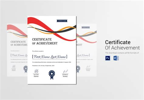certificate of attainment template certificate template 45 free printable word excel pdf