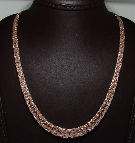 graduated byzantine necklace 14k pink gold 18 quot 20 quot ebay