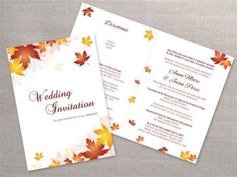 Name Card Fall Templat 2 X 3 1 2 by Diy Printable Wedding Folded Invitation Card Template