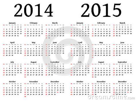 Calendã E Feriados 2014 Calendar For 2014 And 2015 In Vector Stock Images Image