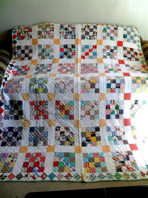 vintage antique handmade quilt 16 block 1930 s depression
