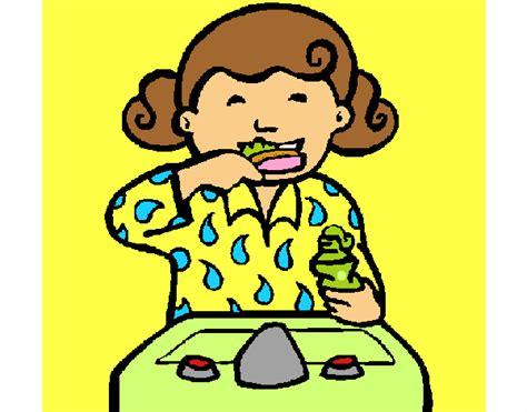 Dibujo De Ni A Cepill Ndose Los Dientes Para Colorear | dibujo de ni a cepill ndose los dientes para colorear