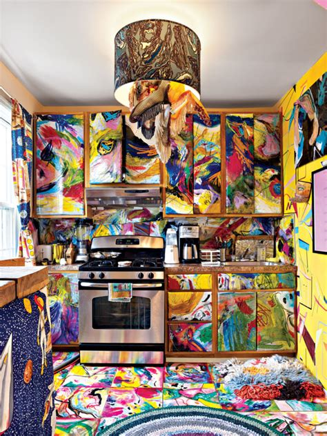 artists colorful house   touch  madness digsdigs
