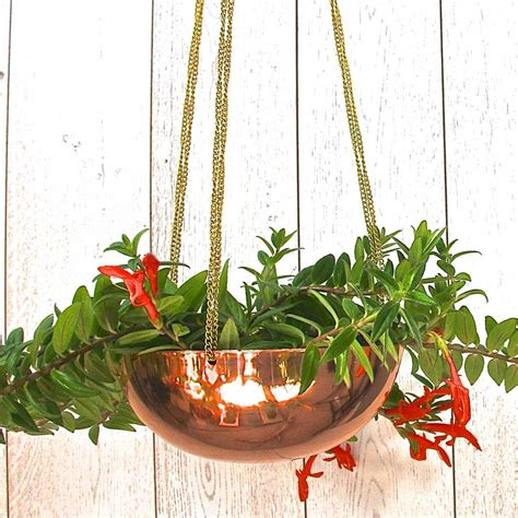Copper Hanging Planter by Copper Hanging Planter With Chain By Garden Trading