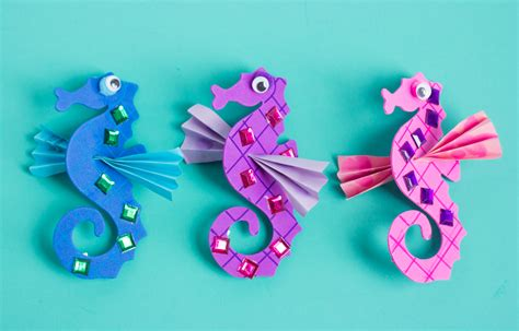 Arts And Crafts Christmas Decorations - make your own seahorses craft