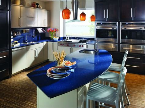 blue countertop quartz vs granite countertops pros and cons