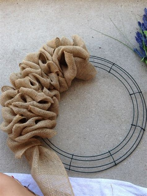 burlap wreath how to wreaths pinterest how to make a burlap wreath simple with complete