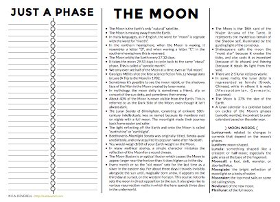 printable moon journal the moon journal worksheet wednesday creative writing blog