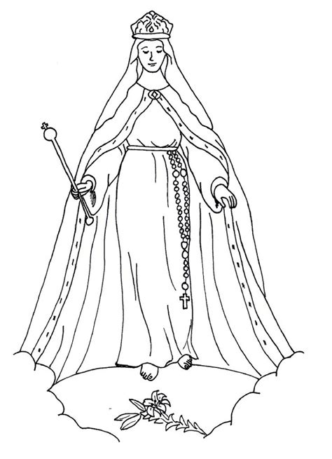 coloring page blessed virgin mary 26 best images about mary queen of heaven lapbook on