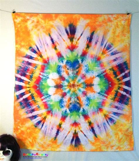 tie dye home decor tapestry tie dye wall home decor blue yellow purple
