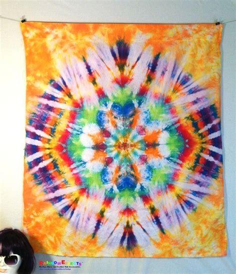 tapestry tie dye wall home decor blue yellow purple