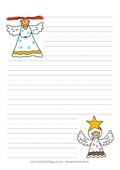 letter to santa template activity village christmas angel writing paper