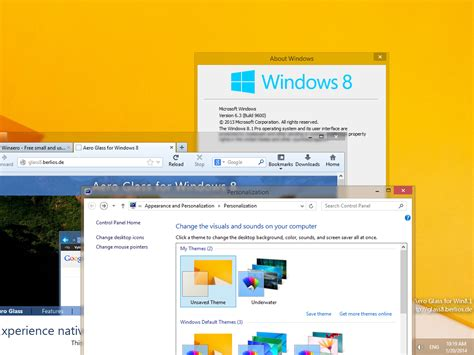 theme windows 8 1 aero aero glass for windows 8 1 released download links inside