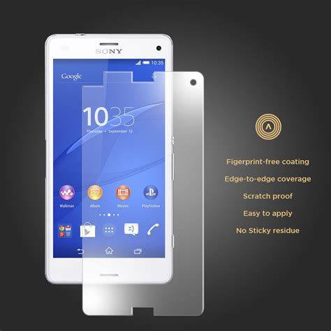 Tempered Glass Z3 Compact aerios tempered glass screen protector sony xperia z3 compact