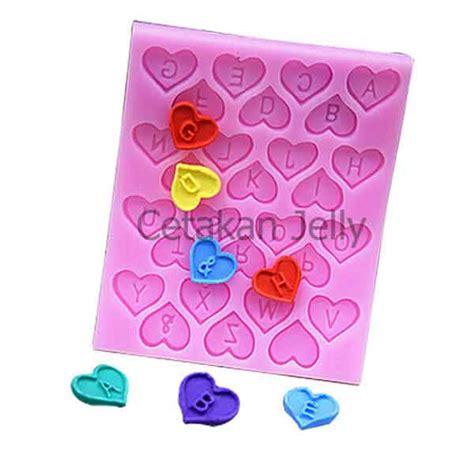 cetakan fondant alphabet in hearts cj1803 diskon cetakan fondant alphabet in hearts cetakan jelly