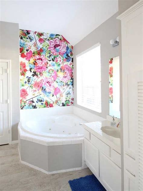 wallpaper for bathrooms walls 31 wallpaper accent walls that are worth pinning digsdigs