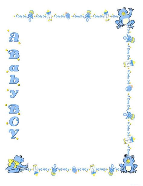 baby shower borders clip free baby shower border templates cliparts co