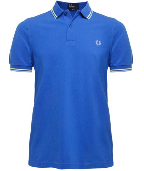 Fred Perry Slim Low fred perry blue slim fit tipped polo shirt available