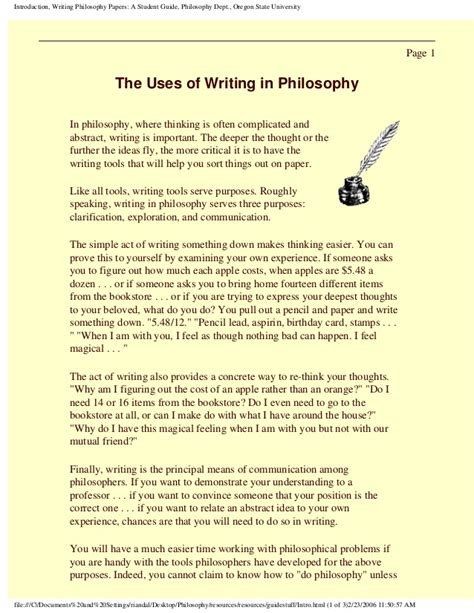 writing philosophy papers 19159899 writing philosophy papers a student guide