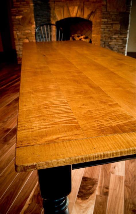 custom  tiger maple dining table  carolina farm table