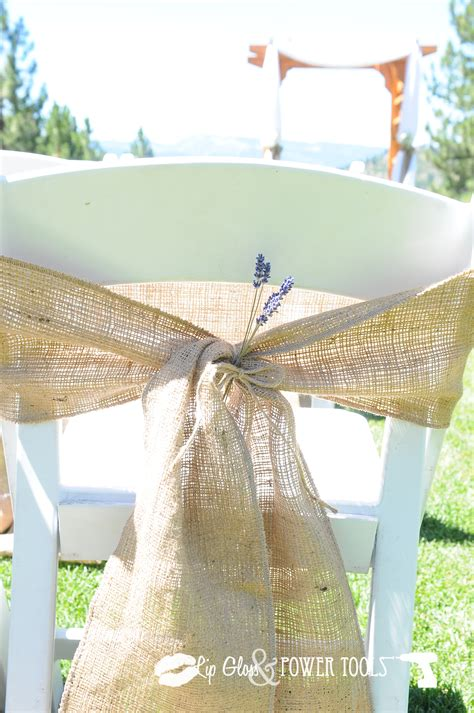 Diy Burlap Chair Sashes by Burlap Chair Sashes Chairs Model