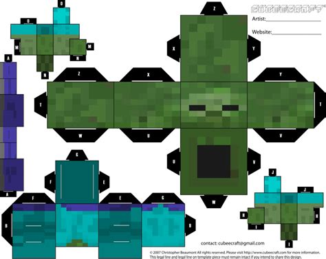 Mindcraft Paper Craft - theme minecraft on minecraft papercraft and