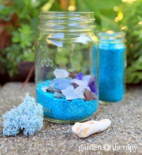 diy mason jar solar lights beach glass solar lights