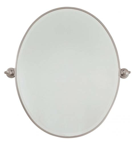 large bathroom mirrors brushed nickel minka lavery brushed nickel large oval pivoting bathroom